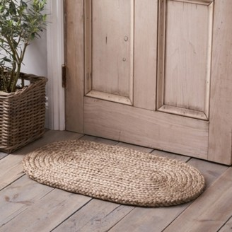 The White Company Braided Oval Doormat , Natural, One Size