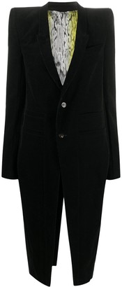 Rick Owens Structured Long Blazer