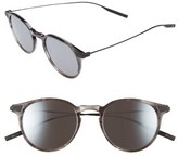 Salt Women's Rick 48Mm Polarized Round Sunglasses - Cold Grey/ Black Sand