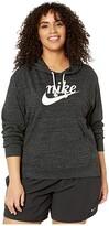 Nike Plus Size NSW Gym Vintage Hoodie HBR (Black/Sail) Women's Sweatshirt