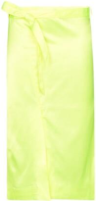 Supriya Lele Belted Satin Midi Skirt