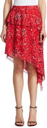Iro . Jeans Blink Tiered Asymmetric Midi Skirt