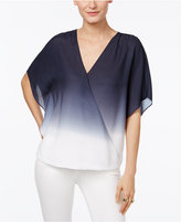 INC International Concepts Surplice Ombré Top, Only at Macy's