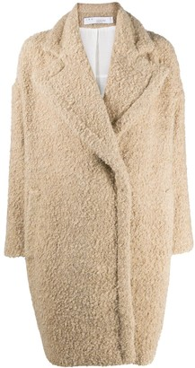 IRO Kati shearling single-breasted coat