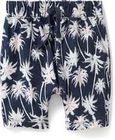 Old Navy Palm-Tree Print Slub-Knit Shorts for Toddler