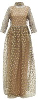 Maison Rabih Kayrouz Star-embroidered Organza Gown - Womens - Grey Multi