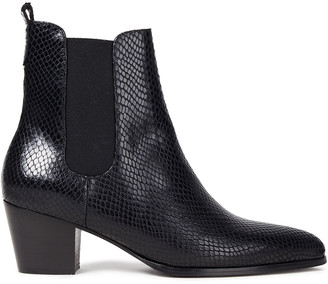 Claudie Pierlot Abbie Snake-effect Leather Chelsea Boots