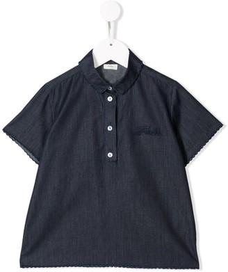 Fendi Kids Embroidered Logo Polo Shirt