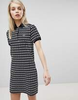 Fred Perry Mint Designs Doll Print Polo Shirt Dress