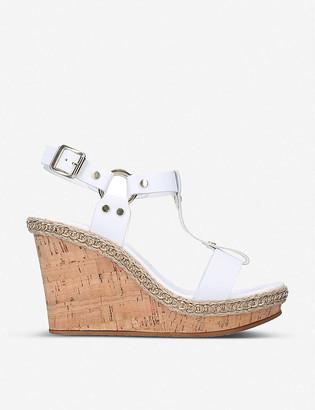 Carvela Karolina jute-trimmed leather wedge sandals