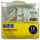 P.M.E. Number Cutters, for Sugarcraft and Cake Decorating Set of 13
