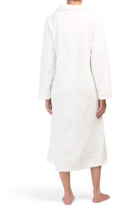 Long Sleeve Ballet Zip Robe