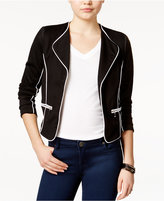 XOXO Juniors' Contrast Zipper-Trim Jacket