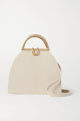 Cult Gaia Ziba Snake-effect Leather Shoulder Bag - Cream