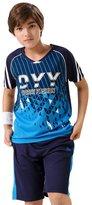 XiaoYouYu Big Boy's Raglan T-Shirt and Athletic Short Set US Size 8
