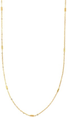 Bony Levy 14K Gold Bar Station Chain Necklace