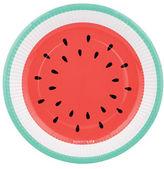 Sunnylife 12-Piece Watermelon-Print Paper Plates Set