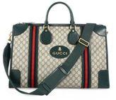 Gucci Soft GG Supreme Web-Detail Duffle Bag