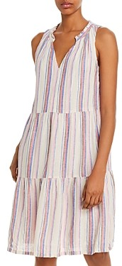 Tommy Bahama Sleeveless Striped Tiered Shift Dress