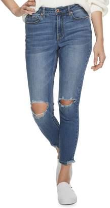 American Rag Juniors' High Rise Chewed Hem Skinny Jeans