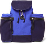 Paul Smith Nylon, Canvas And Leather Backpack - Blue