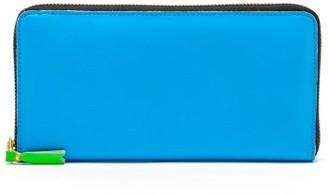 Comme des Garcons Zipped Leather Continental Wallet - Mens - Blue