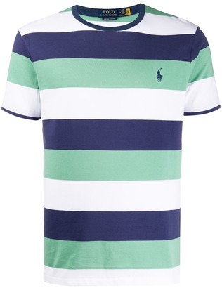 Polo Ralph Lauren embroidered logo striped T-shirt