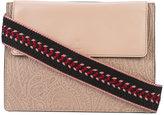 Etro paisley embossed shoulder bag - women - Leather/Polyamide - One Size