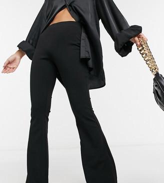 ASOS DESIGN Petite jersey slim kick flare suit trouser
