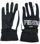Fendi FF logo gloves - women - Polyamide/Polyester/Polyurethane/Spandex/Elastane - S