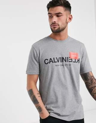 Calvin Klein mirror logo t-shirt in grey