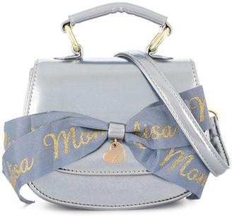 MonnaLisa Laminated Bow Shoulder Bag