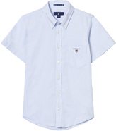 Gant Blue Oxford Short Sleeve Shirt