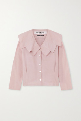 ÀCHEVAL PAMPA Evita Cotton Blouse - Pink
