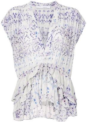 IRO Igua geometric-print blouse