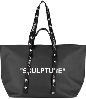 Off-White Black printed rubberised tote