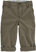 Carter's Woven Pants (Baby) - Olive-24 Months