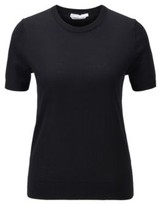 BOSS Short-sleeved sweater in virgin wool