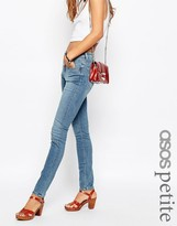Asos Lisbon Skinny Mid Rise Jeans in Clover Wash