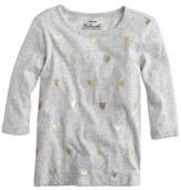 J.Crew Girls' foil heart T-shirt