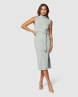 Forever New Emilia Roll Neck Midi Knit Dress