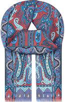 Etro Multi-coloured Paisley Silk Scarf