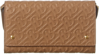 Burberry Monogram Leather Continental Wallet On Strap