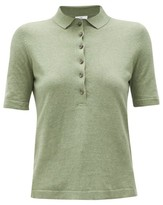 Allude Knitted Polo Shirt - Womens - Khaki