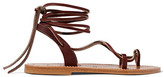 K Jacques St Tropez Lucile Leather Sandals - Chocolate