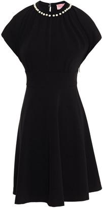 Kate Spade Embellished Stretch-crepe Mini Dress