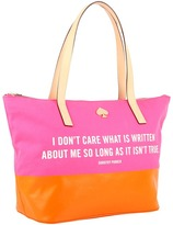 Kate Spade Call To Action Small Coal (Pink/Orange) - Bags and Luggage