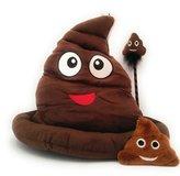 Minky Poop Bundle - Soft Fabric Poop Hat, Bobble Head Pen & Back pack clip