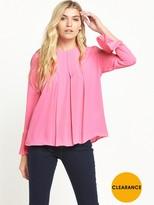 Warehouse Box Pleat Top - Pink