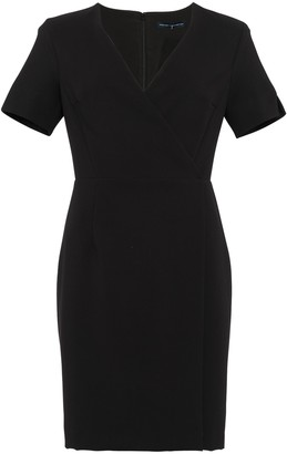 French Connection Whisper Wrap Short Sleeve Dress